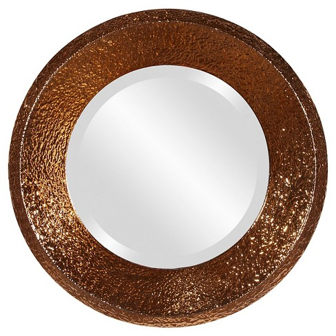 Round Nashville Decorative Wall Mirror Copper - Howard Elliott - image 1 of 2