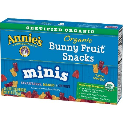 Fruit Snacks: Annie's Organic Mini Bunny
