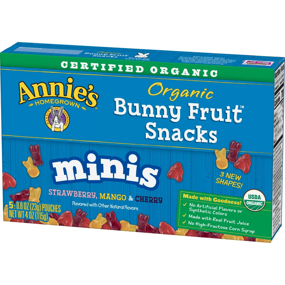 Annie S Mini Bunny Fruit Snacks 5ct
