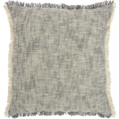 "20""x20"" Oversize Life Styles Woven Fringe Square Throw Pillow - Nourison"