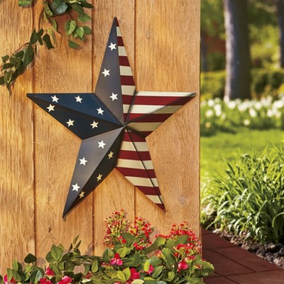 "Lakeside 24"" Americana Pride Star - Outdoor Porch Accent"