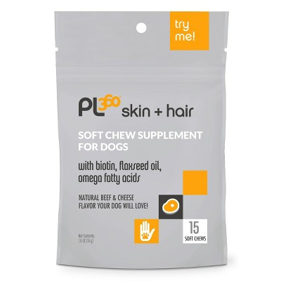 PL360 Skin and Hair Dog Soft Chew Supplement