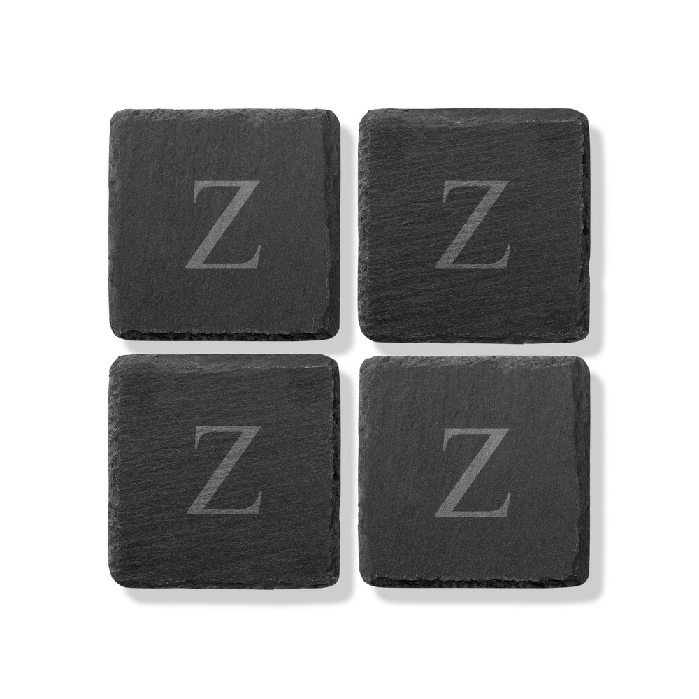 4pk Slate Monogrammed Coasters Z Cathy 39 S Concepts