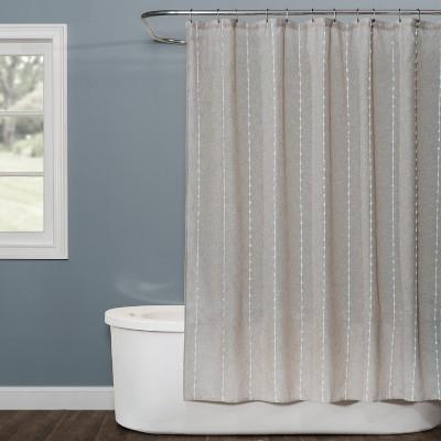 Davidson Stripe Shower Curtain Natural - Saturday Knight Ltd.