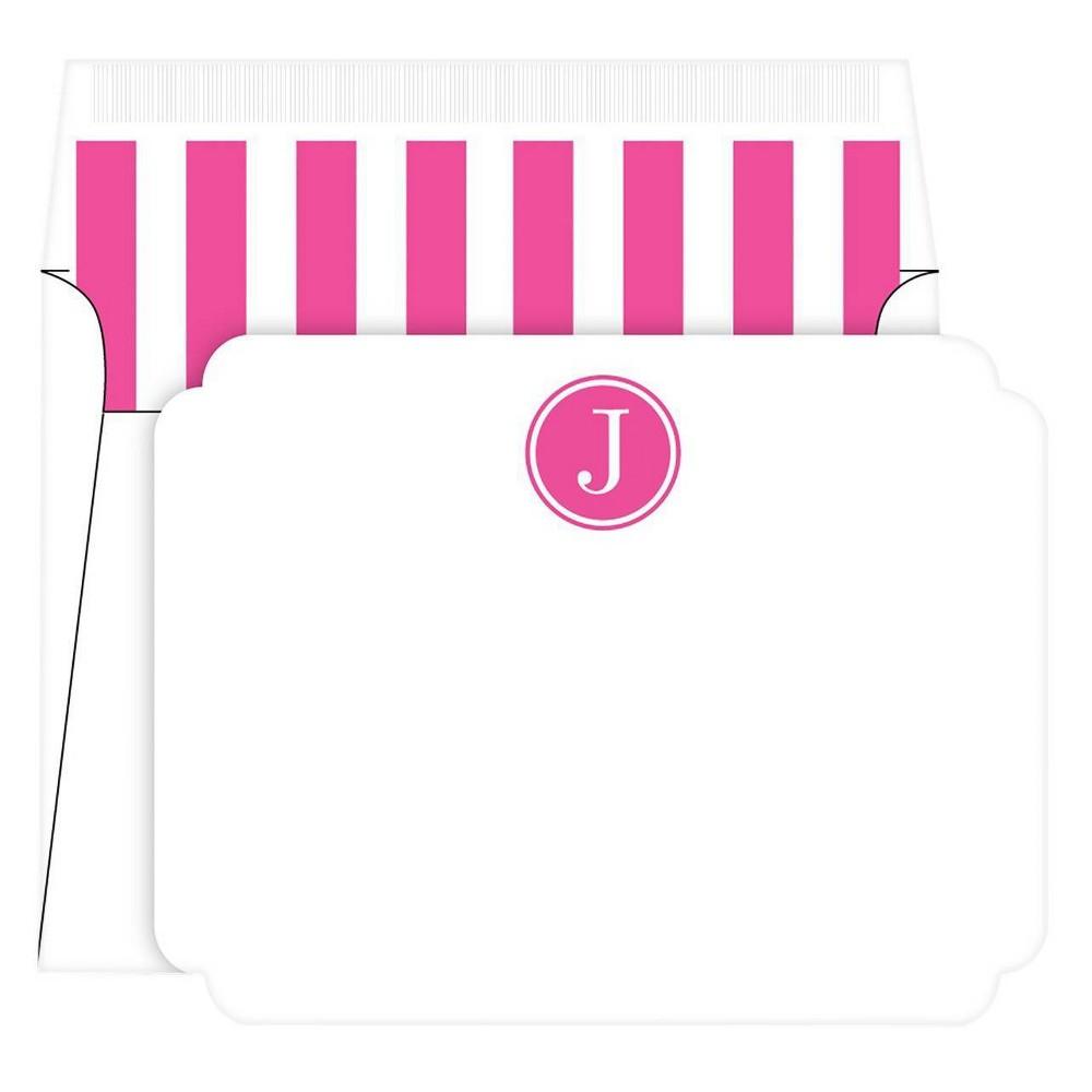 Die Cut Social Set Preppy Stripe Monogram J