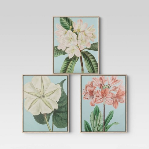 """Set of 3 16"""" x 20"""" Floral Framed Wall Canvas - Opalhouse™ - image 1 of 4"""