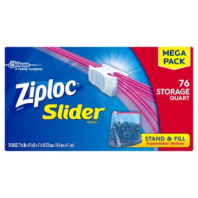 Ziploc® Mega Storage Slider Quart - 76ct