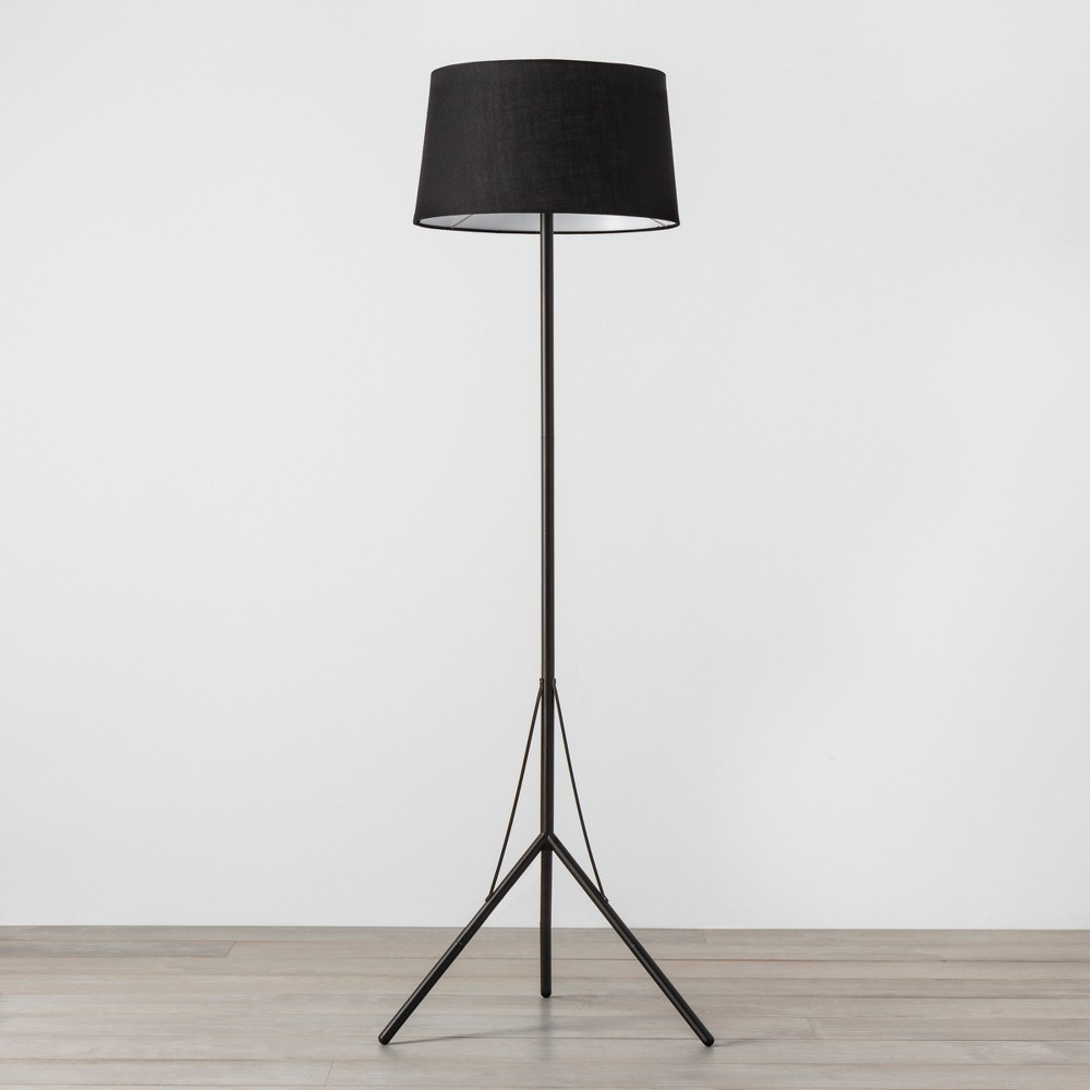 Floor Lamp with Shade Black - Hearth & Hand with Magnolia