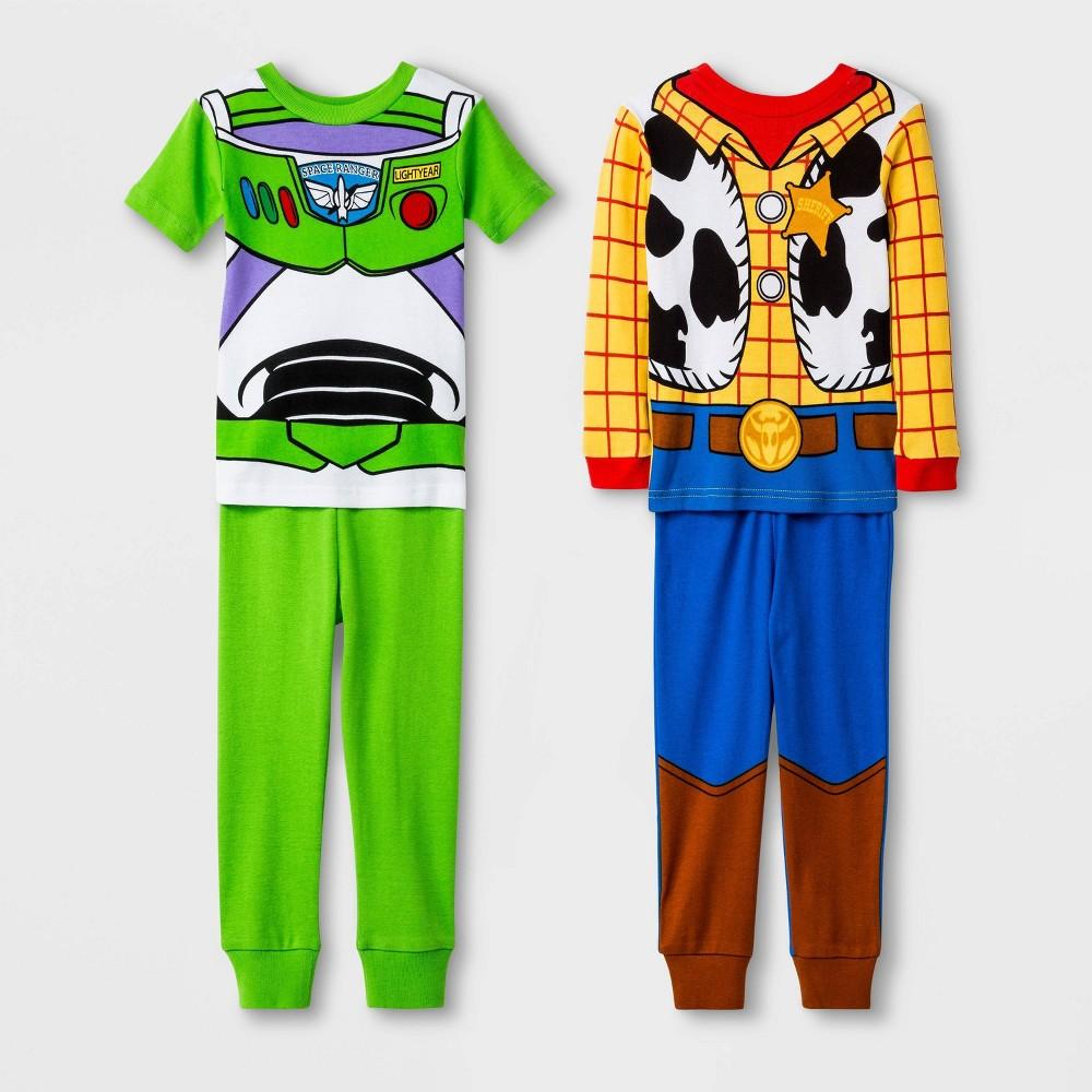 Image of Baby Boys' 4pc Toy Story 100% Cotton Pajama Set - Yellow 12M, Boy's
