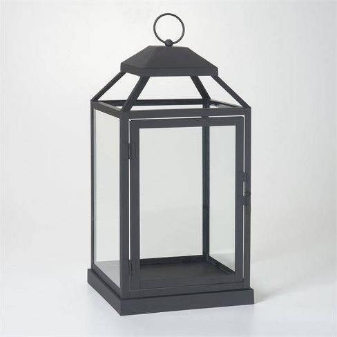 17 Gideon Metal Outdoor Lantern With Door Black Smart Living Target