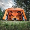 Gazelle T4 Plus Extra Large 4 to 8 Person Portable Pop Up Outdoor Shelter Camping Hub Tent with Extended Screened In Sun Room, Orange - image 4 of 4