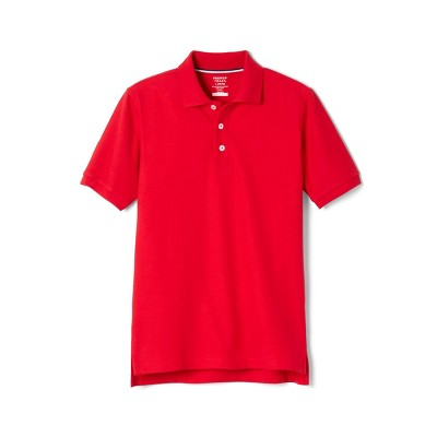 French Toast Young Men's Uniform Short Sleeve Pique Polo Shirt - Red
