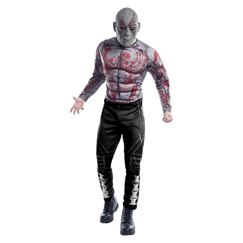 Halloween Guardians of the Galaxy Men's Drax the Destroyer Costume - One Size, Black