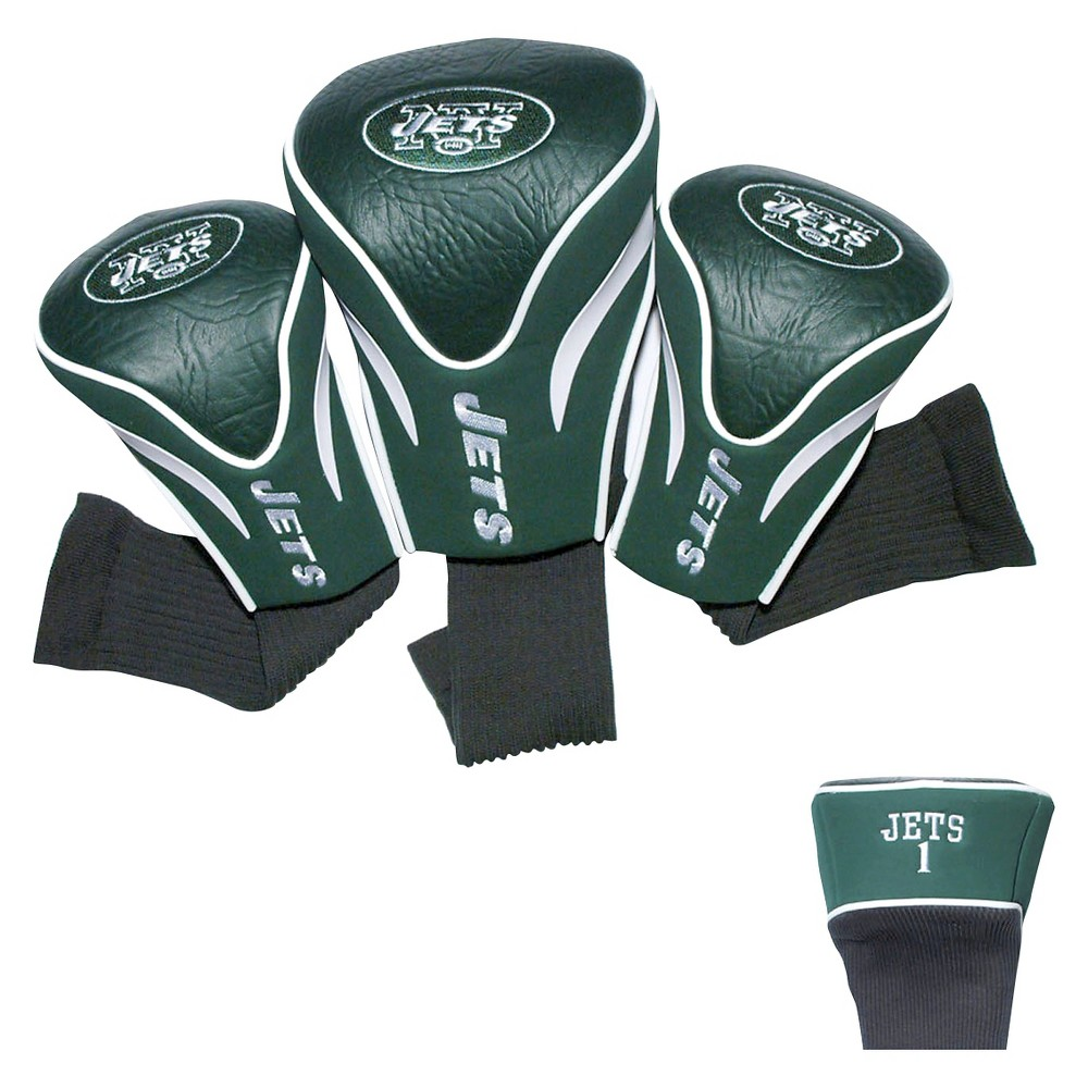 New York Jets Team Golf 3 Pack Contour Head Cover