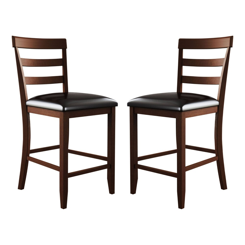 Alexander Upholstered Counter Height Chair (Set of 2) Brown - Abbyson Living