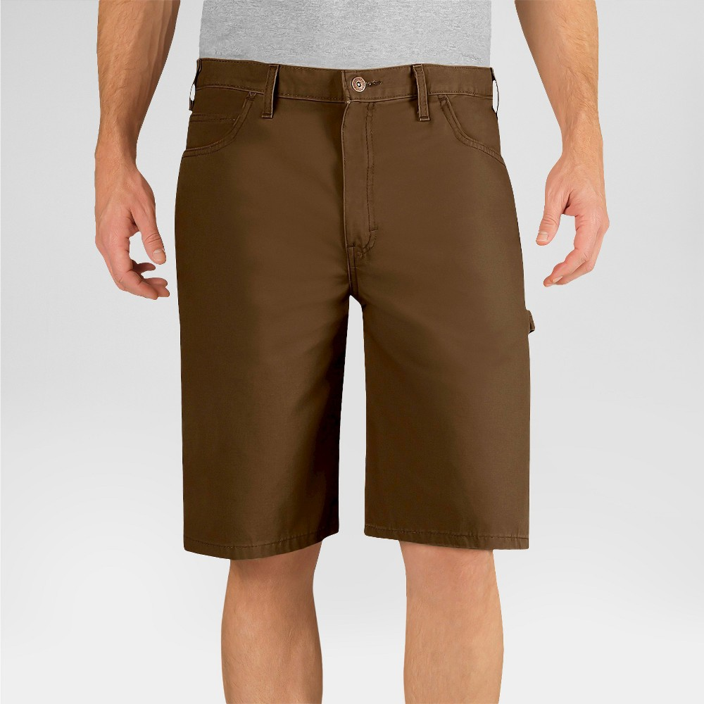 Dickies Men's Big & Tall Relaxed Fit Lightweight Canvas 11 Carpenter Shorts- Timber 44