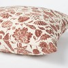Floral Printed Throw Pillow Rust/Cream - Threshold™ designed with Studio McGee - image 4 of 4