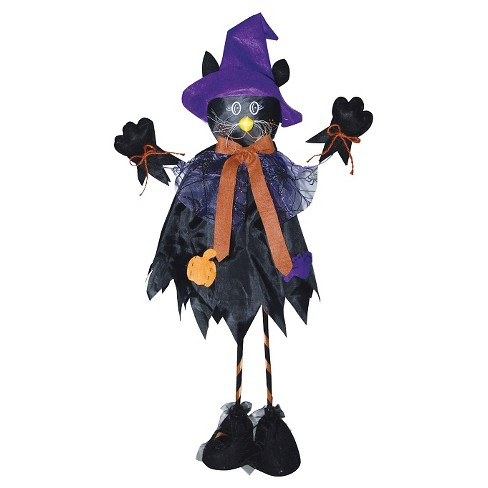 "28"" Halloween Standing Scarecrow Cat - image 1 of 1"