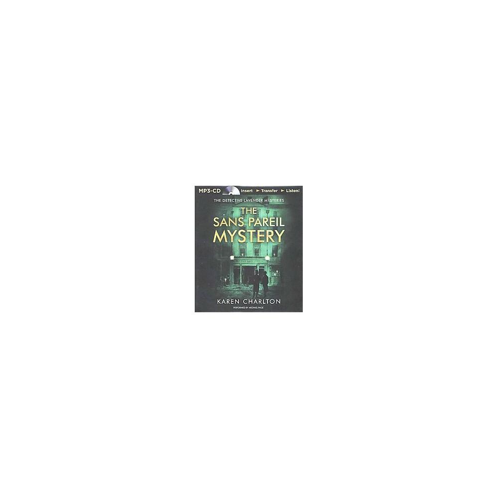 Sans Pareil Mystery (Unabridged) (MP3-CD) (Karen Charlton)