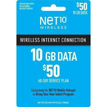 NET10 $50 Mobile Hotspot (10GB) Data Plan - (Email Delivery)