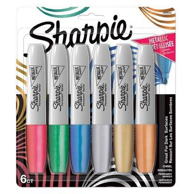 Sharpie 6pk Permanent Marker Metallic Chisel Tip Multicolor