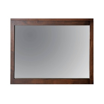 Myandra Solid Maple Wood Rectangular Mirror Espresso - HOMES: Inside + Out