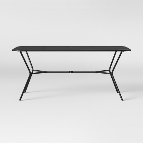 Bangor 6 Person Patio Dining Table - Black - Project 62™ - image 1 of 4