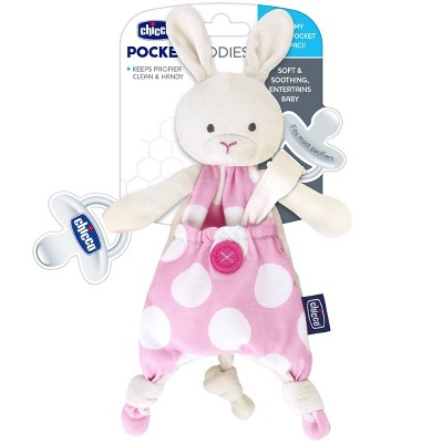 Chicco Pocket Buddies Pacifier Holder - Pink