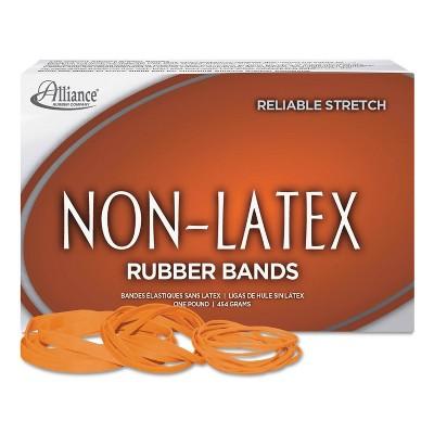 Alliance Non Latex Orange Rubber Bands, Size 64, 3-1/2 x 1/4, 380 Bands/1lb Box