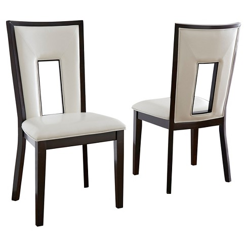 Broward Dining Chairs Wood/White/Brown (Set of 2) - Steve Silver Company - image 1 of 2