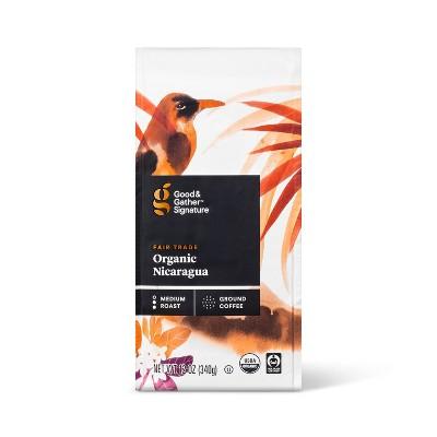 Signature Organic Nicaragua Medium Roast Ground Coffee - 12oz - Good & Gather™