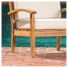Peyton 2-Piece Outdoor Wooden Club Chairs With Cushions - Christopher Knight Home - image 4 of 4