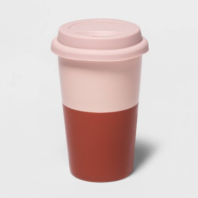 11oz Blush Travel Mug with Lid - Room Essentials™
