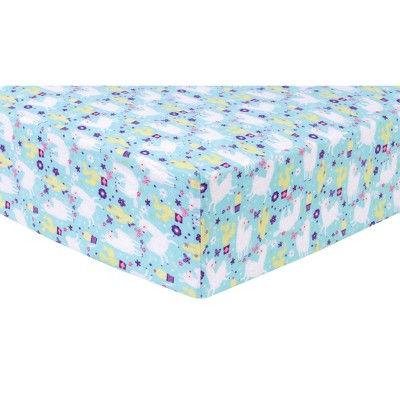 Trend Lab Deluxe Flannel Fitted Crib Sheet - Llama Paradise