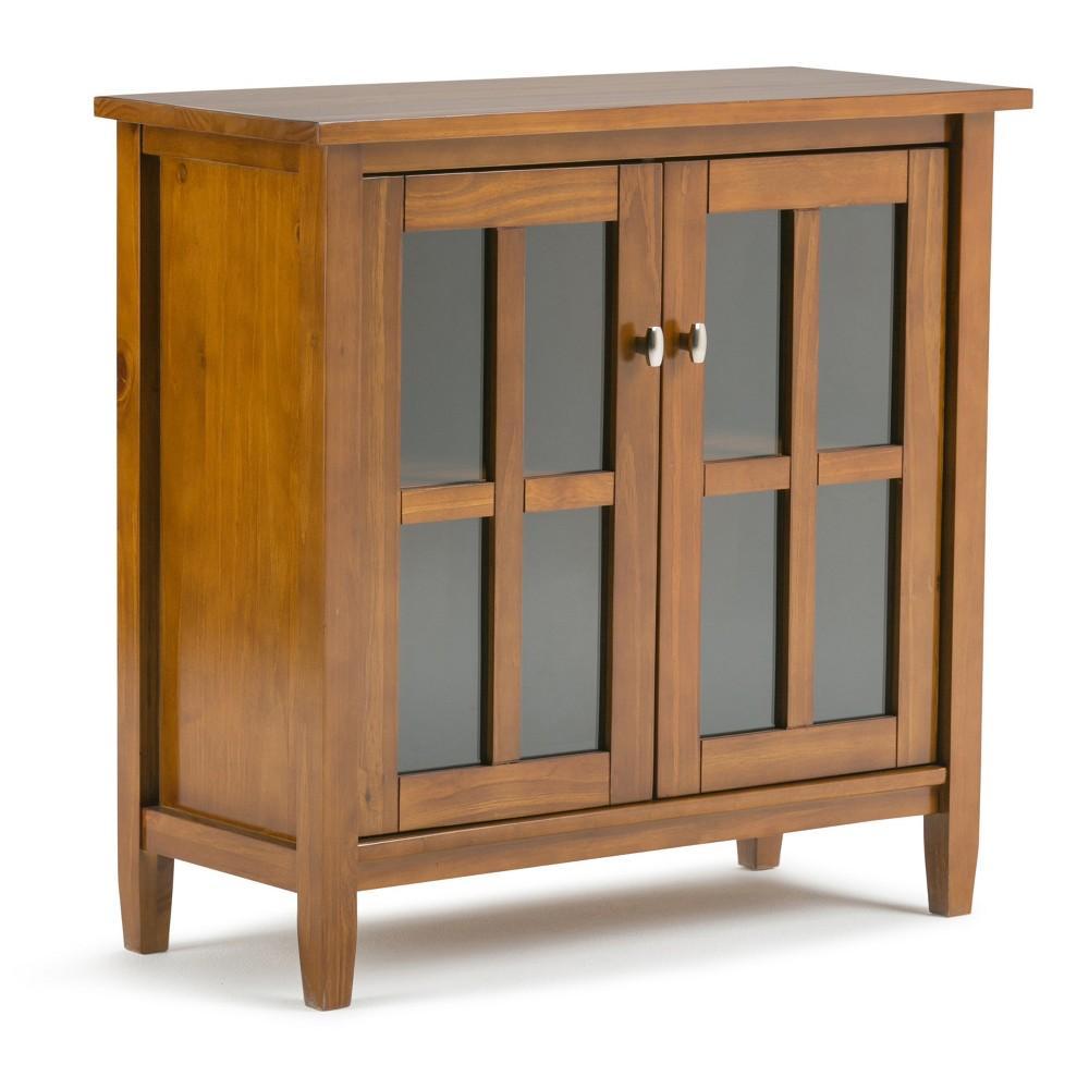 Norfolk Solid Wood Low Storage Cabinet Honey Brown - Wyndenhall