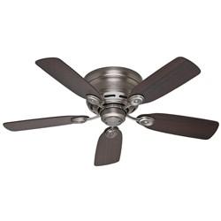 """42"""" Low Profile IV Antique Pewter Ceiling Fan - Hunter Fan"""