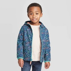 Toddler Boys' Dino Print Softshell Jacket - Cat and Jack™ Blue