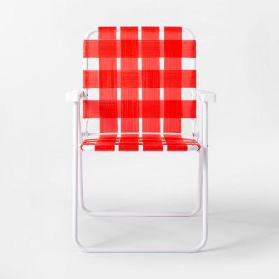 Webstrap Beach Chair Red - Sun Squad™