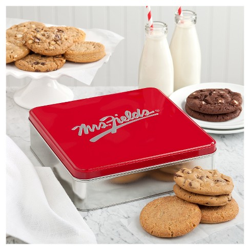 Mrs. Fields Classic Cookie Tin With One Dozen Cookies - image 1 of 1