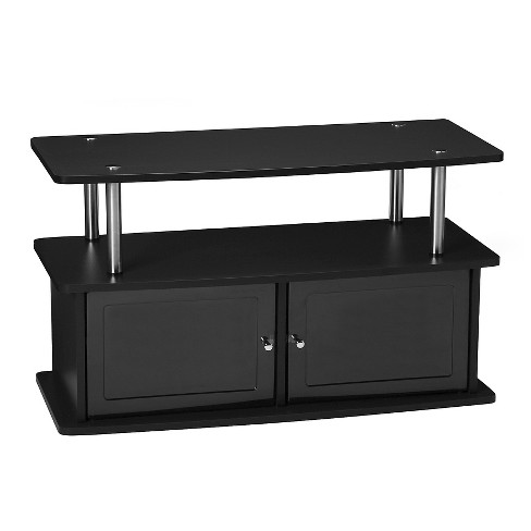 TV Stand with 2 Cabinets - Black - Convenience Concepts - image 1 of 3
