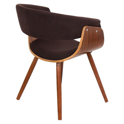 Vintage Mod Dining Chair Wood Brown Lumisource