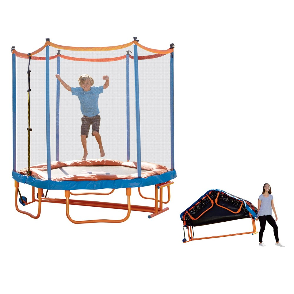 Little Tikes Fold-Pack 'n Roll Trampoline, Multi - Colored