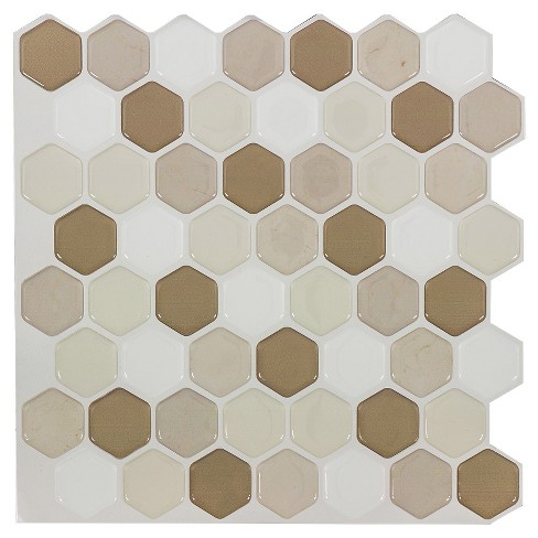 Decor 5 Pack Peel & Stick Mosaic Tile - Straw Hex - image 1 of 5