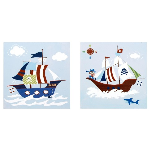 Ahoy Matey Printed MDF Box 2pc Set - image 1 of 6