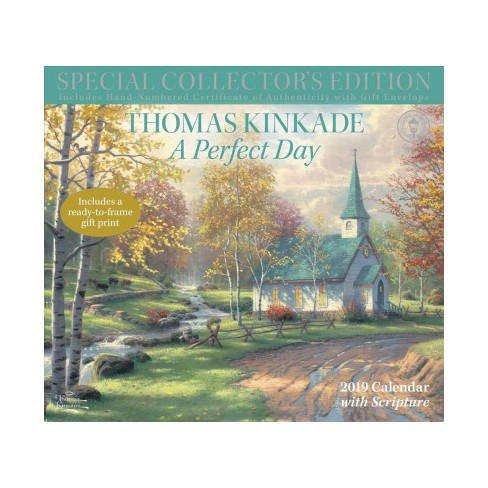 Thomas Kinkade A Perfect Day With Scripture 2019 Calendar Includes