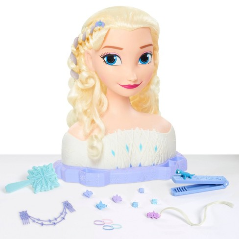 Disney Frozen 2 Deluxe Elsa the Snow Queen Styling Head 17pc - image 1 of 4