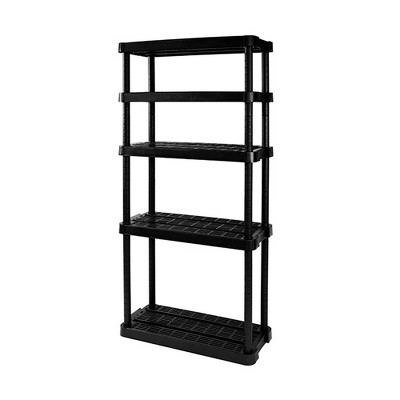 Gracious Living Medium Duty Adjustable Ventilated Storage Shelving Unit, 5 Shelf