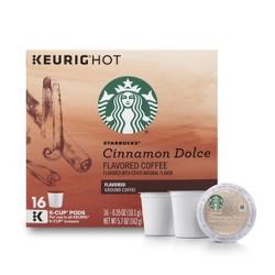 Starbucks Cinnamon Dolce Light Roast Coffee - Keurig K-Cup Pods - 16ct