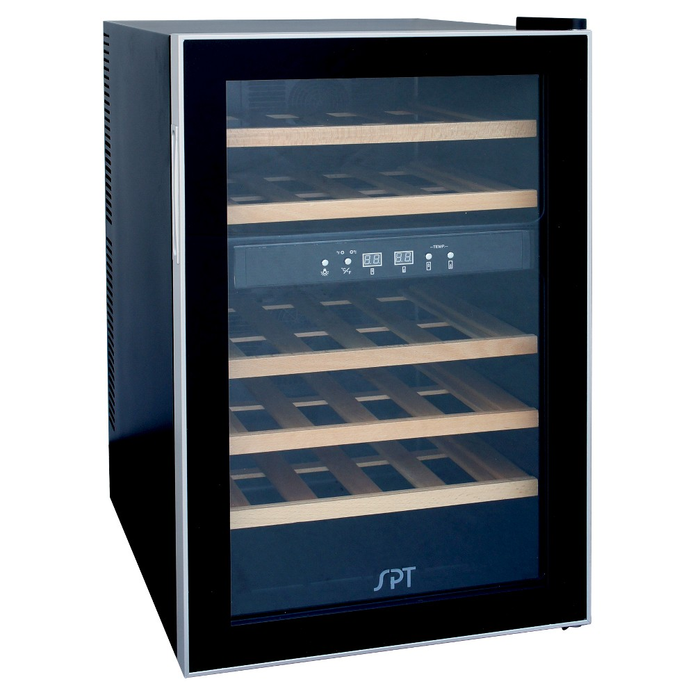 Sunpentown 24 bottle Thermo Electric Wine Cooler – Wood 50390721