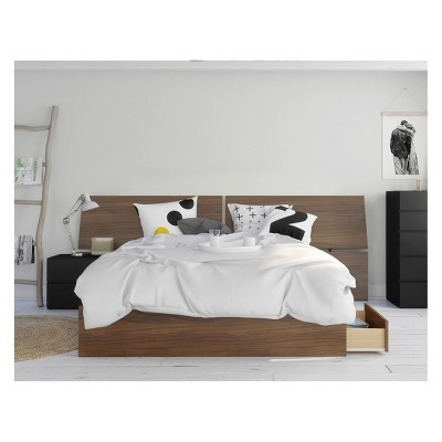 3pc Queen Moxy Bedroom Set Walnut - Nexera